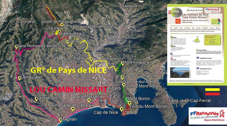 """GR® de Pays des collines de Nice """"LOU CAMIN NISSART"""""""